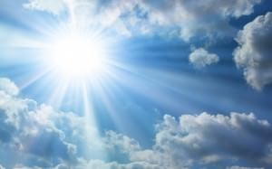 bright sun and sky background