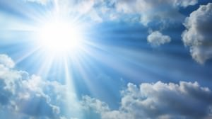 sunshine and clouds background