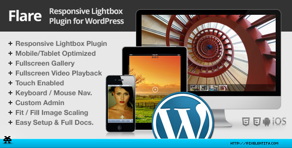 Flare Responsive Lightbox Plugin for WordPress