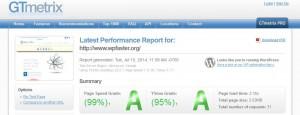 GTmetrix performance report for WpFASTER.org generated on 9/15/2014.