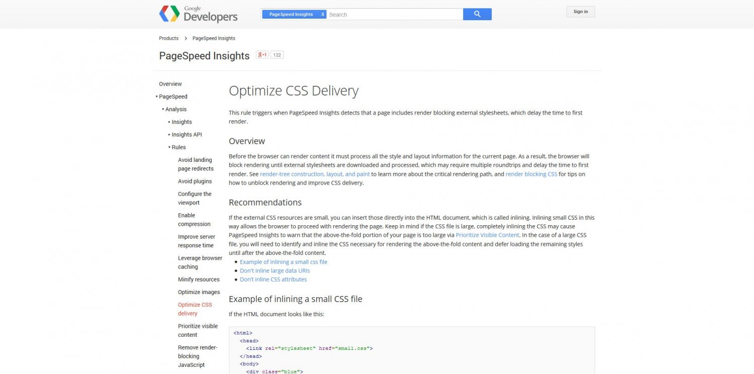 Optimizing CSS Delivery